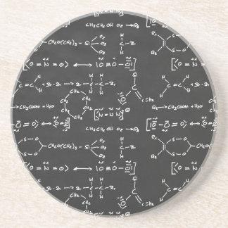 Chemical formula writing drink coaster