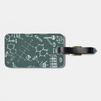 Chemical lab equipment scribbles bag tag