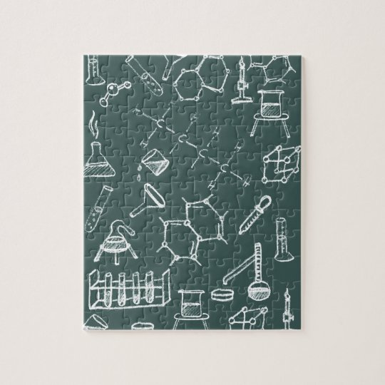 Chemical lab equipment scribbles jigsaw puzzle