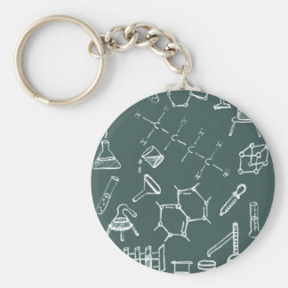 Chemical lab equipment scribbles keychain