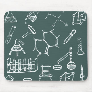 Chemical lab equipment scribbles mouse pad