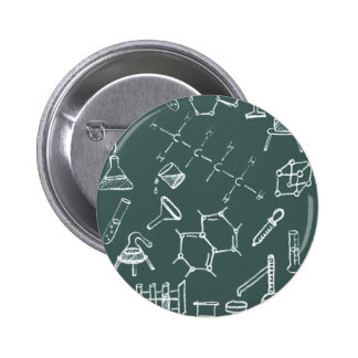 Chemical lab equipment scribbles pinback button