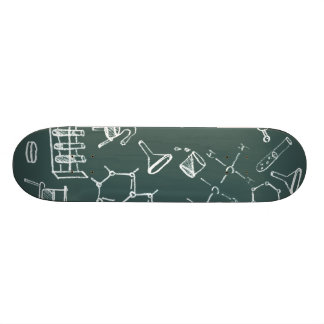 Chemical lab equipment scribbles skate board decks