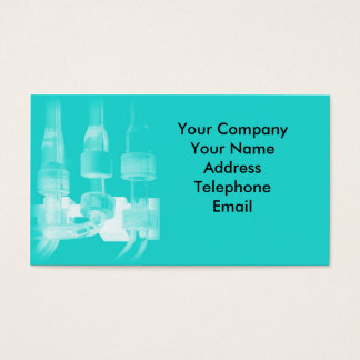 Chemical Laboratory with Glass Tubes Business Card