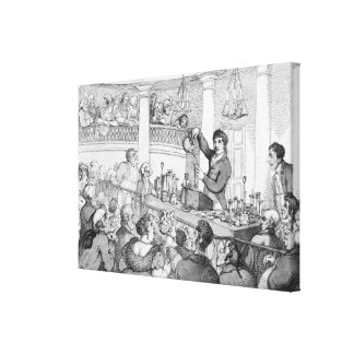 Chemical Lectures, c.1809 Canvas Print