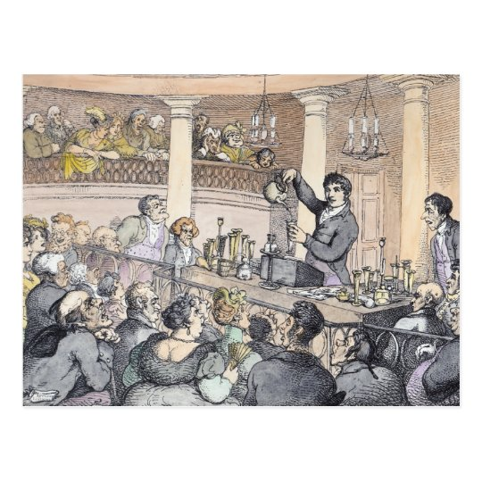 Chemical Lectures, c.1809 Postcard