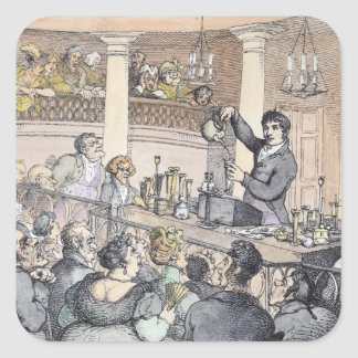 Chemical Lectures, c.1809 Square Sticker