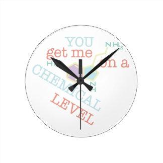 Chemical Level Round Clock