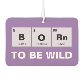Chemical periodic table of elements: BORn Car Air Freshener