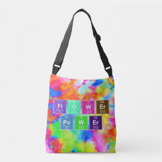 Chemical periodic table of elements: FlOWEr PoWEr Crossbody Bag
