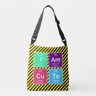 Chemical periodic table of elements: IAm CuTe Crossbody Bag