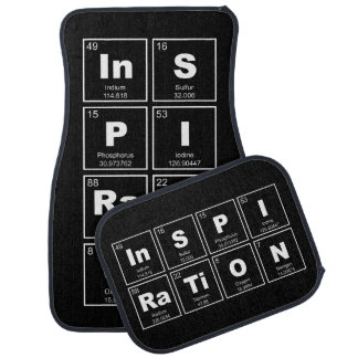 Chemical periodic table of elements: InSPIRaTiON Car Floor Mat