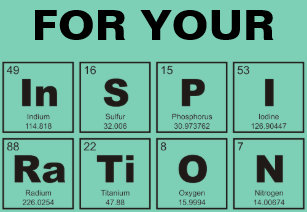 chemical periodic table of elements inspiration clipboard