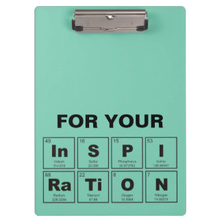 Chemical periodic table of elements: InSPIRaTiON Clipboards