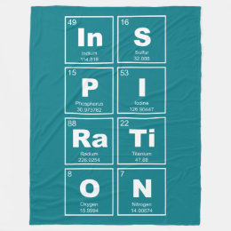 Chemical elements throw fleece custom blankets zazzle chemical periodic table of elements inspiration fleece blanket urtaz Choice Image