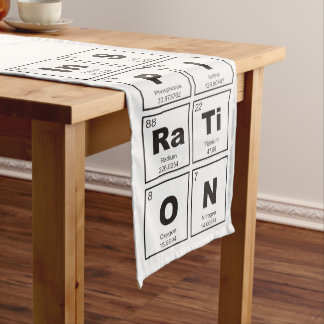 Chemical periodic table of elements: InSPIRaTiON Long Table Runner