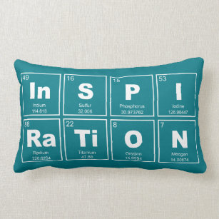 chemical periodic table of elements inspiration lumbar pillow