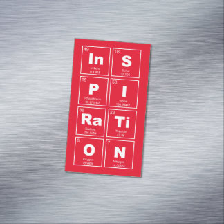 Chemical periodic table of elements: InSPIRaTiON Magnetic Business Card