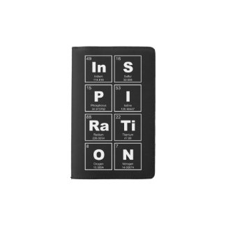 Chemical periodic table of elements: InSPIRaTiON Pocket Moleskine Notebook