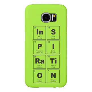 Chemical periodic table of elements: InSPIRaTiON Samsung Galaxy S6 Case