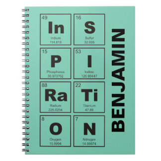 Chemical periodic table of elements: InSPIRaTiON Spiral Notebook