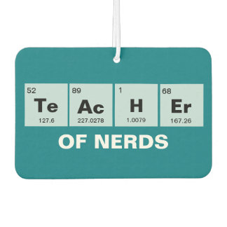 Chemical periodic table of elements: TeAcHEr Car Air Freshener