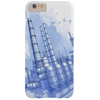Chemical plant & watercolor background barely there iPhone 6 plus case