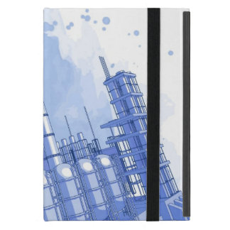 Chemical plant & watercolor background covers for iPad mini