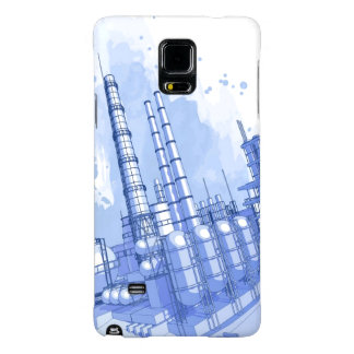 Chemical plant & watercolor background galaxy note 4 case