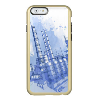 Chemical plant & watercolor background incipio feather® shine iPhone 6 case