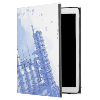 Chemical plant & watercolor background iPad pro case