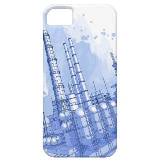 Chemical plant & watercolor background iPhone SE/5/5s case