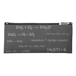 Chemical Reactions on Blackboard Pencil Case