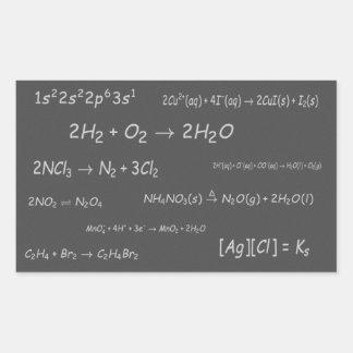 Chemical Reactions on Blackboard Rectangular Sticker
