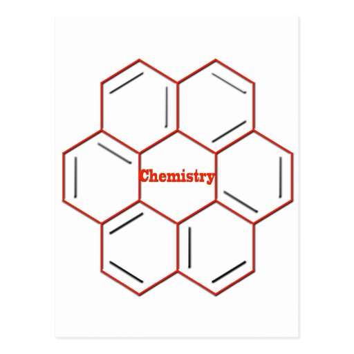 Chemical structure in chemistry post card