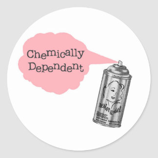 Chemically Dependent Sticker