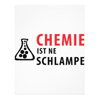 chemie ist ne schlampe icon flyer