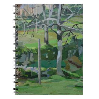 Chemin de la Fontaine Spiral Notebook