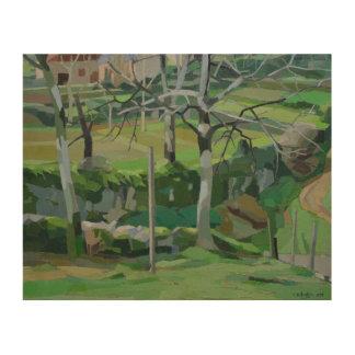 Chemin de la Fontaine Wood Print