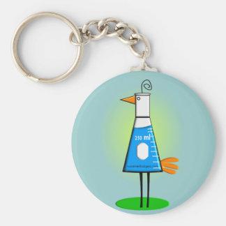 """Chemist """"Beeker Bird"""" Gifts Keychain"""