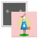 """Chemist """"Beeker Bird"""" Gifts Pinback Button"""