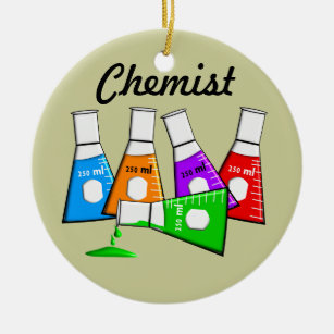 Chemist Beekers Christmas Ornament