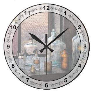 Chemist - Bottles Wall Clock