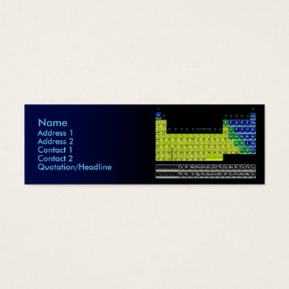 Chemist Card with Periodic Table