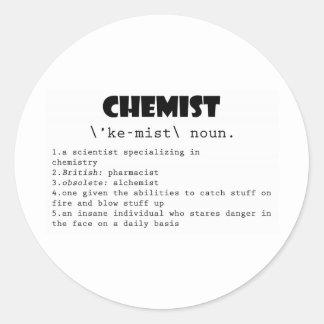 Chemist Definition Classic Round Sticker