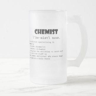 Chemist Definition Frosted Glass Beer Mug