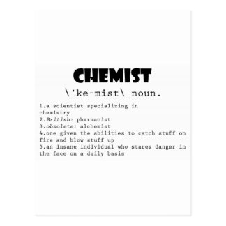 Chemist Definition Postcard