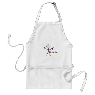 Chemist Gifts-Stick Person With Test Tubes Adult Apron