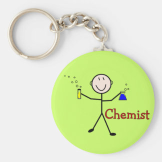 Chemist Gifts-Stick Person With Test Tubes Keychain