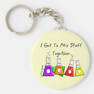"""Chemist """"I Get To Mix Stuff Together"""" Funny Gifts Keychain"""